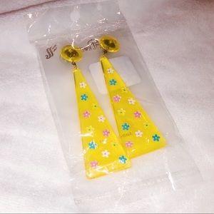 70s Floral Dangly Earrings